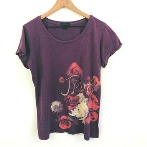 True Religion Floral Print Graphic Tee